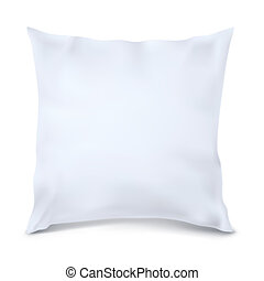 Vector. Mock Up. White Pillow Square