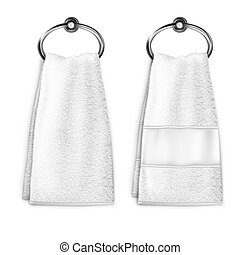 ?????? - Vector. Mock Up. White Towel
