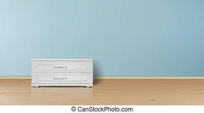 Vector mockup of empty room, minimalist interior