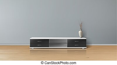 Vector mockup of empty room, minimalistic interior