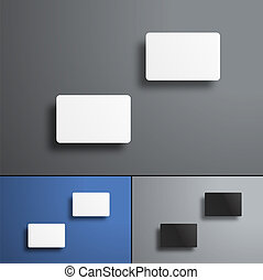 Vector Mockup of two gift or bank cards top view.
