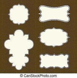 vector, model, frame, set, sierlijk