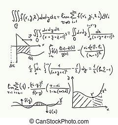 vector, model, met, wiskundig, formules