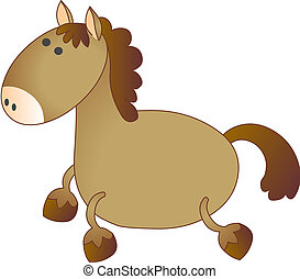 Vector model of horse - Vector model of coloured horse, on...