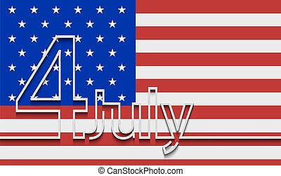 Vector modern 4th july background.
