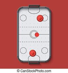 vector modern air hockey table