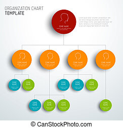 Vector modern and simple organization chart template with...