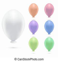 Vector modern balloons set on white background