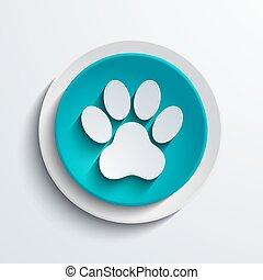 vector modern blue circle icon. Web element