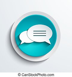 vector modern blue circle icon. Web element design