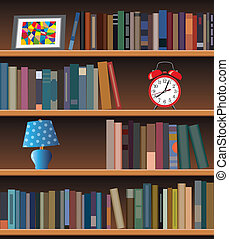 modern bookshelf - vector modern bookshelf