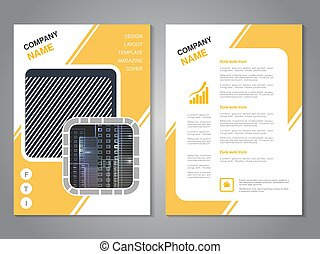 Vector modern brochure