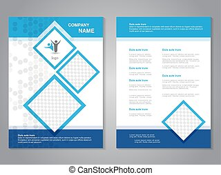 Vector modern brochure, abstract flyer, simple dotted design...