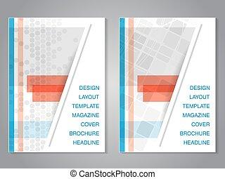 Vector modern brochure with rectangle design