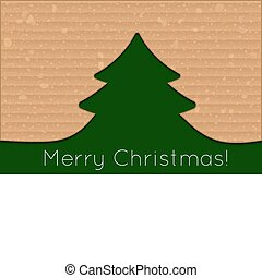 cardboard christmas tree - Vector modern cardboard christmas...