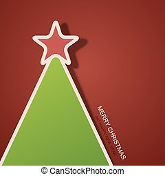 Vector modern christmas tree background.