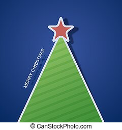 Vector modern christmas tree background. Invitation of xmas or happy new year.