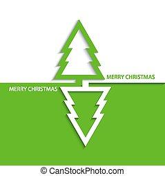 Vector modern  christmas tree