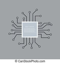 Vector modern circuit board background. Eps 10