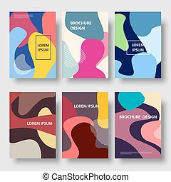 Vector modern color abstract background brochure templates set