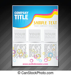 modern company brochure flyer poster template - vector ...