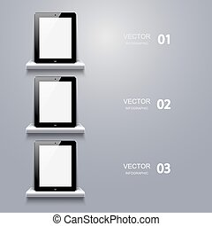 vector modern computer tablet infographic