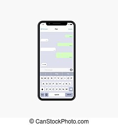 Vector modern concept smartphone on white background.