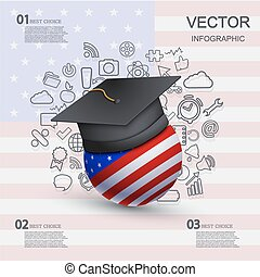 vector modern education infographic background