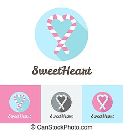 Vector modern flat candy shop or cafe logo