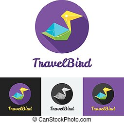 Vector modern flat creative travel company minimalistic logo