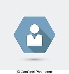 vector modern flat icon with long shadow. Eps10