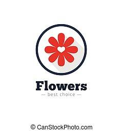 Vector modern flat minimalistic flower shop logo