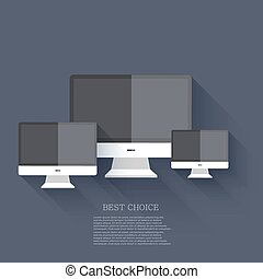 vector modern flat technology background. Eps 10