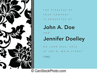 Vector modern floral frame. Perfect as invitation or announcement.
