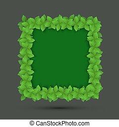 vector modern frame of leaves