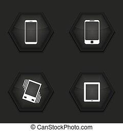 Vector modern gadget icons set