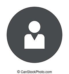 Vector modern gray circle icon - Vector modern man gray...