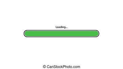vector modern green loading bar on white background