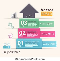 Vector modern infographic template