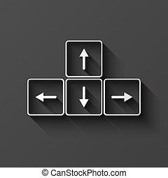 Vector modern keyboard arrows button background