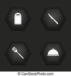 Vector modern kitchen appliances icons set