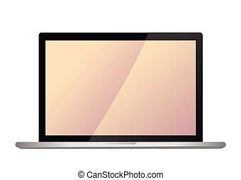 vector modern laptop screen