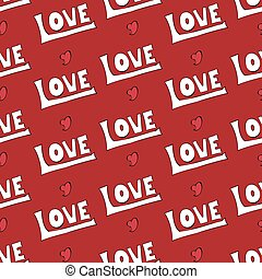 Vector modern love seamless pattern