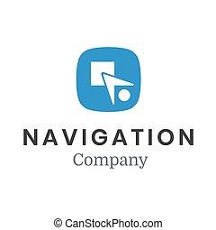 Vector modern minimalistic arrow or plane logo. Navigation company symbol