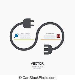 vector modern plug background. infographic.
