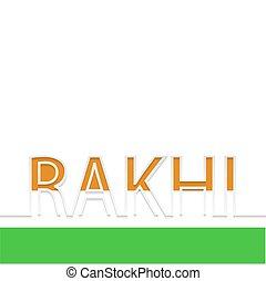 Vector modern rakhi background. indian holiday.