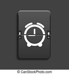 vector modern scoreboard black icon. - vector modern clock...