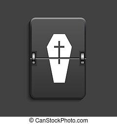 vector modern scoreboard black icon. - vector modern coffin ...