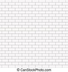 Vector modern seamless white brick background.