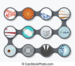Vector modern set of business backgrounds
